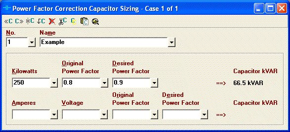 Elite software electrical tools power factor correction capacitor sizing greentooth Choice Image