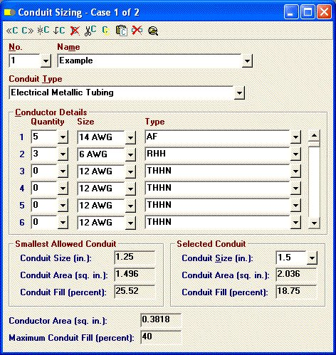 Elite software electrical tools conduit sizing keyboard keysfo Images