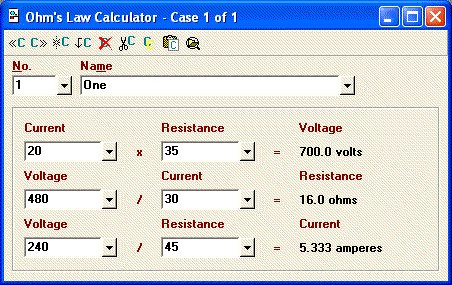 Elite software electrical tools ohms law calculator greentooth Images