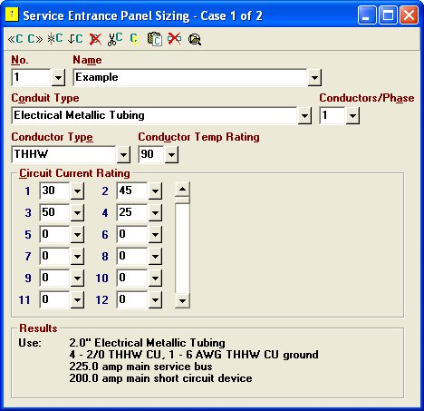 Elite software electrical tools service entrance panel sizing greentooth Choice Image