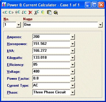 Elite software electrical tools power current calculator greentooth Choice Image