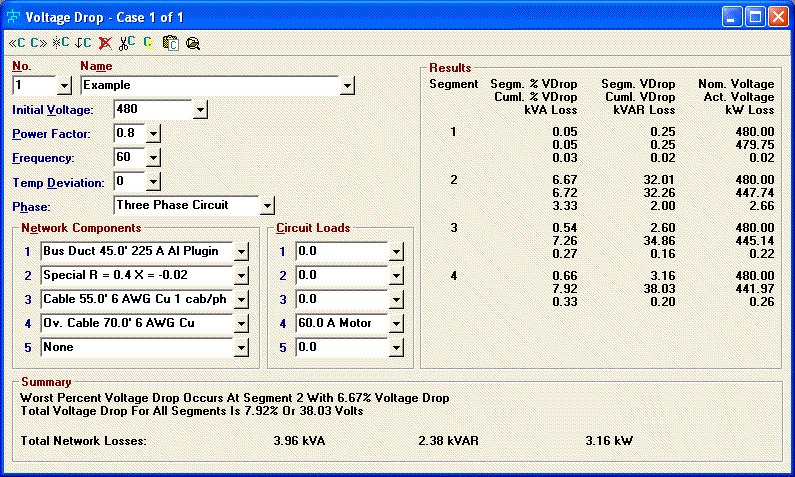 Elite software electrical tools voltage drop greentooth Choice Image