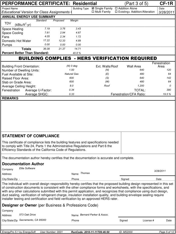 compliance statement template - energypro reports