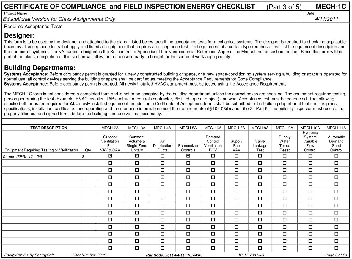 Energypro reports form mech 1 c certificate of compliance xflitez Choice Image