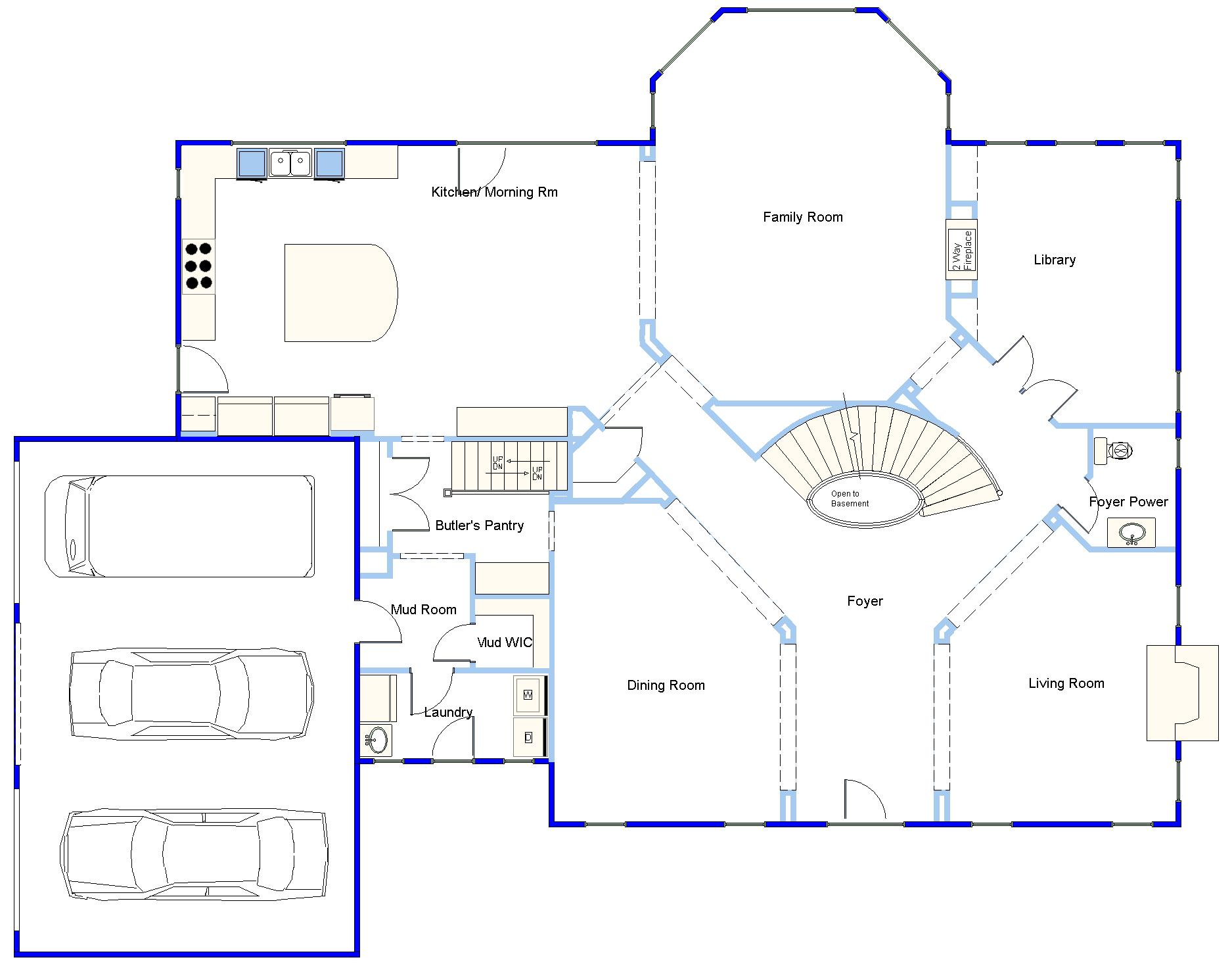 DRAWING BOARD User Contributed Plan    example of a very detailed plan that one of our customers was gracious enough to share   us  It is the first story of a two story home   basement