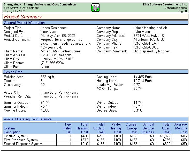 Energy Audit Sample Reports – Sample Reports
