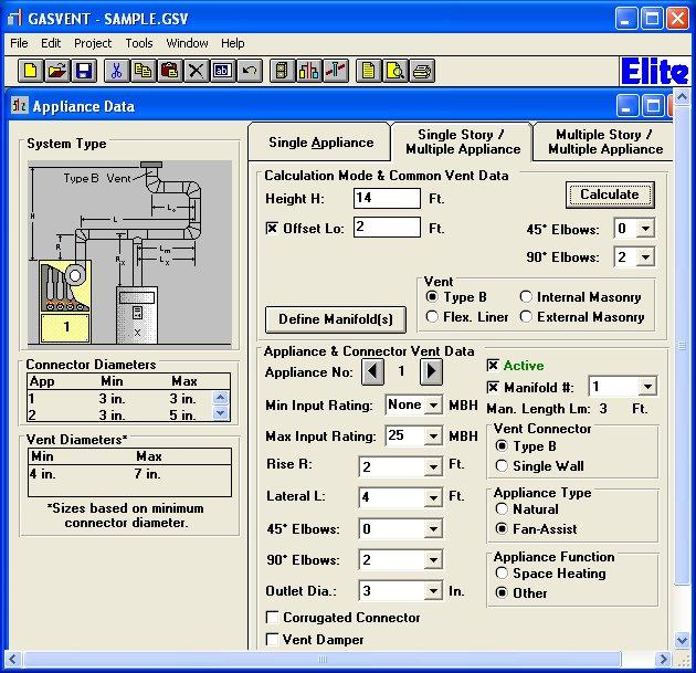 Elite Software Gasvent