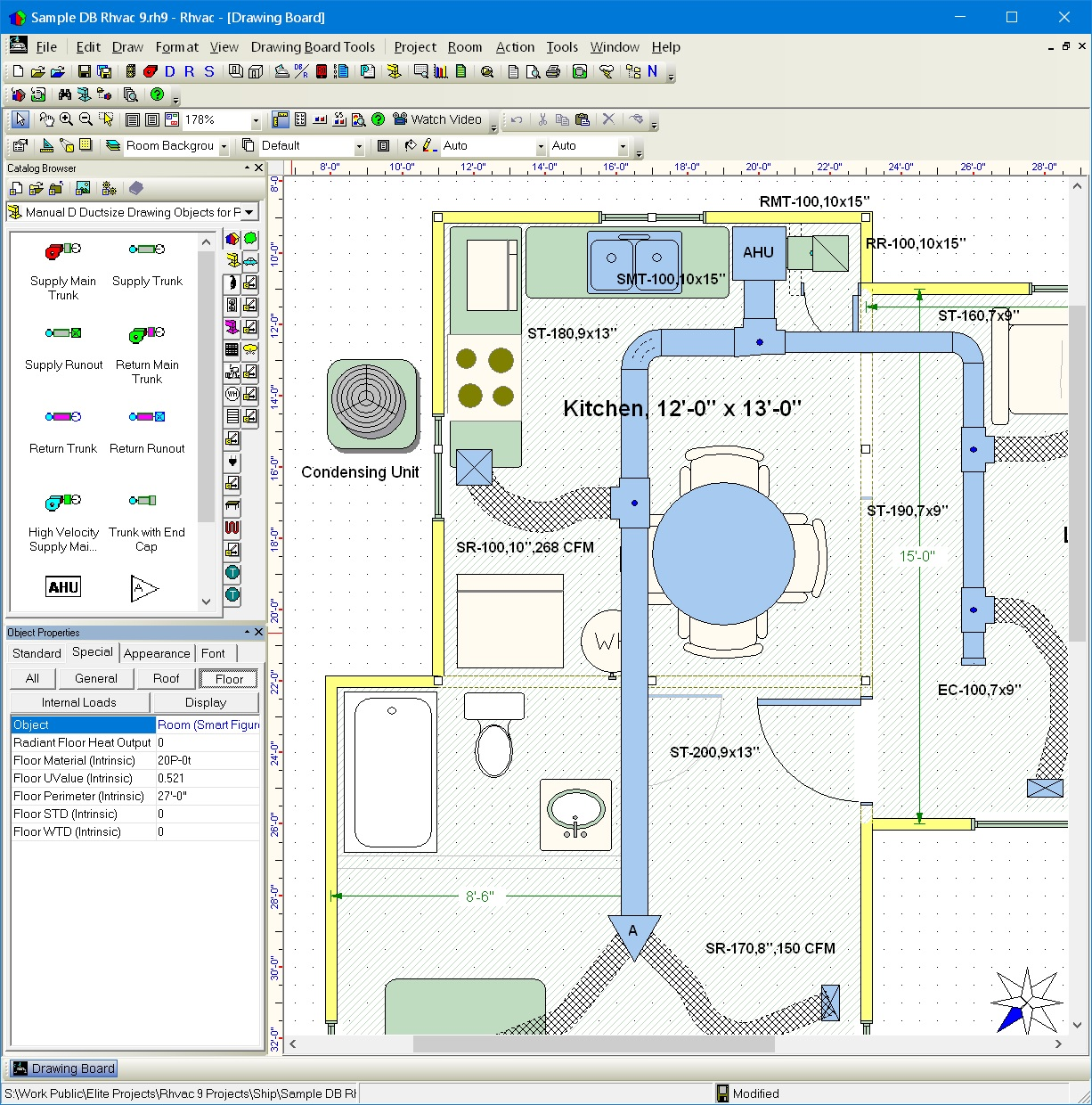 Elite Software Rhvac Piping Diagram Program Drawing Board Window