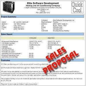 elite software quote sales proposals